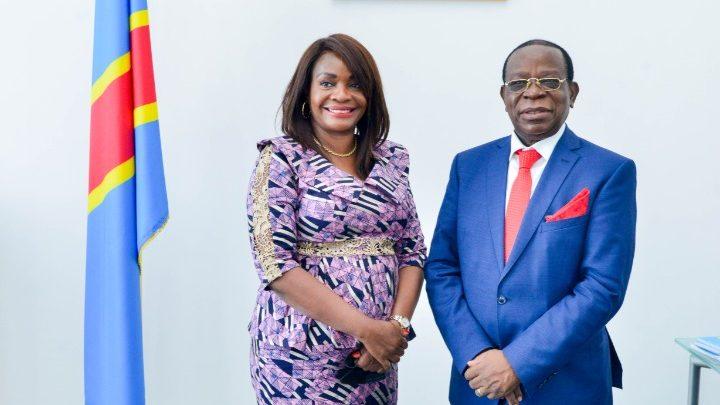 La problématique des routes en RDC au centre d'un échange entre le Président du Sénat et la Dg du FONER