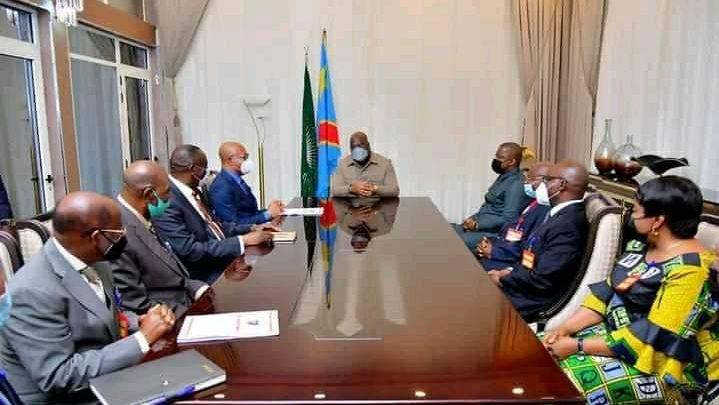 Les juges de la Cour Constitutionnelle chez Félix Tshisekedi