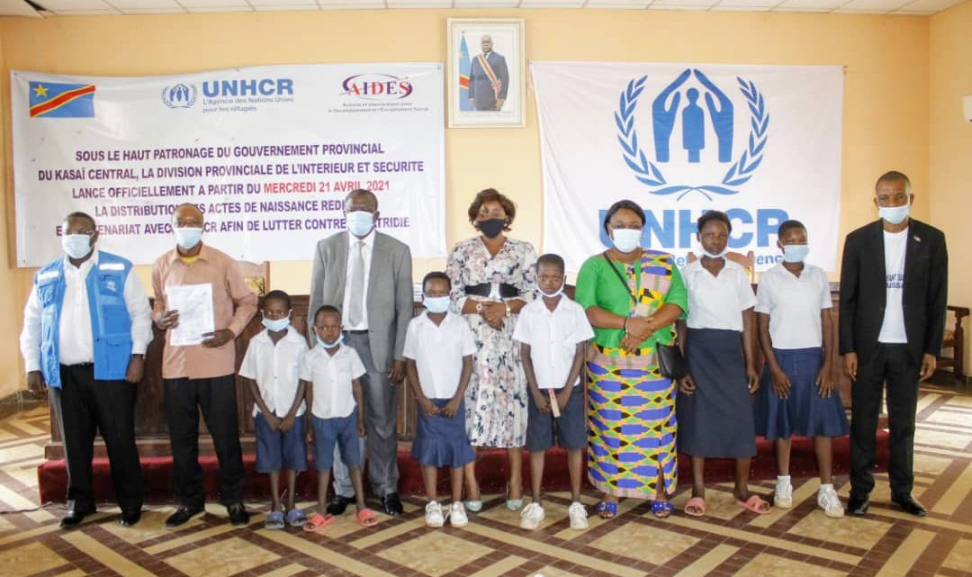 Kasaï Central : lancement officiel de la distribution d'Acte de naissance dans les écoles de Kananga