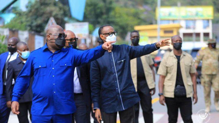 Relations bilatérales RDC-Rwanda: Tête-à-tête Tshisekedi-Kagame à Rubavu
