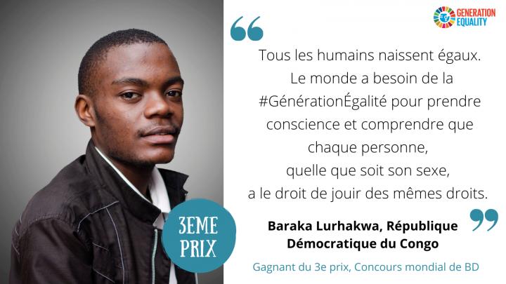 Un jeune Congolais gagne le 3e prix du concours mondial de bandes dessinées – Génération Égalité