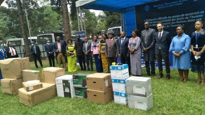 Le BCNUDH fait un don de matériels de bureau au comité interministériel des droits de l'homme