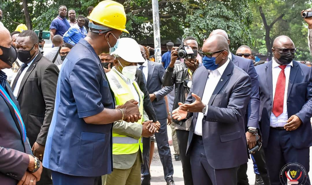 Le Premier ministre, Sama Lukonde lance les travaux du projet « Kinshasa zéro trou »